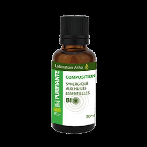 Composición aceites esenciales Purificante Bio Altho 30ml