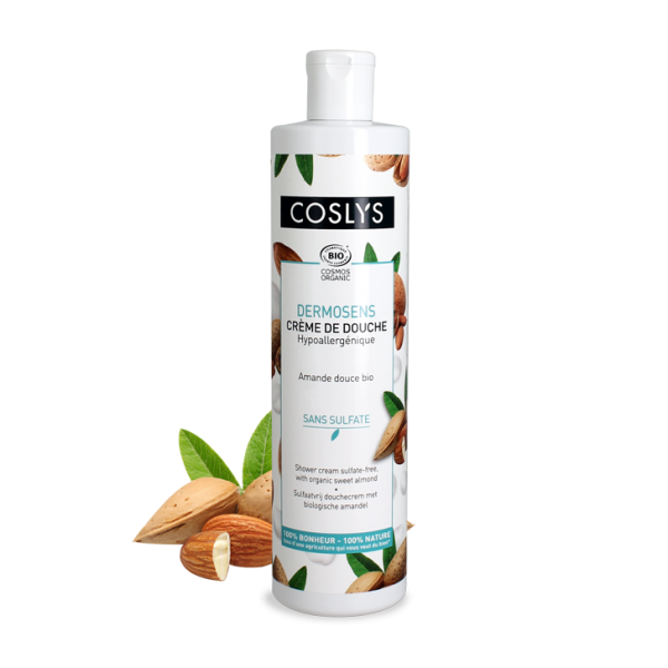 Crema de ducha sin sulfatos con almendra Coslys 380ml.