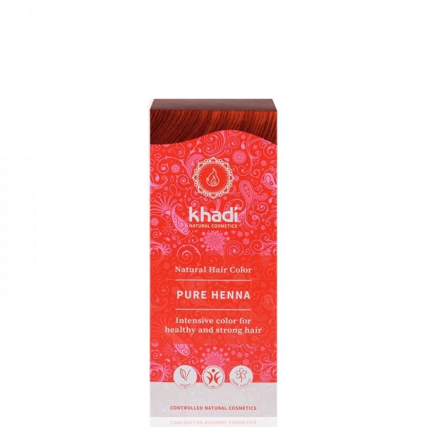 Khadi Tinte Vegetal Henna Pura ROJO 100% Herbal 100gr.