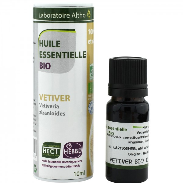 Aceite esencial de vetiver BIO 10ml Laboratoire Altho