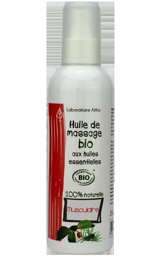 Aceite de masaje muscular BIO 200ml