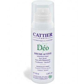Cattier Desodorante Brume Active Spray 100ml.