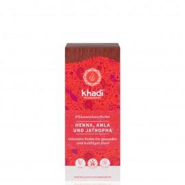 Khadi Tinte Vegetal Henna, Amla & Jatropha ROJO 100% Herbal 100gr.